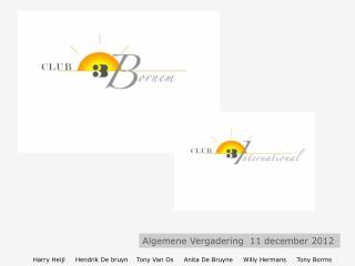 Algemene Vergadering  11 december 2012