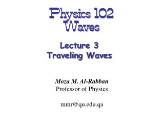 Physics 102  Waves
