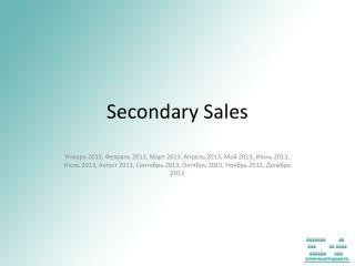 Secondary Sales