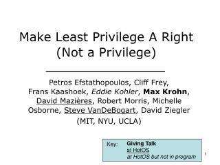 Make Least Privilege A Right (Not a Privilege)