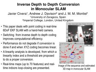 Inverse Depth to Depth Conversion in Monocular SLAM