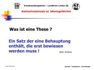 Kreisbrandinspektion – Landkreis Lindau (B)