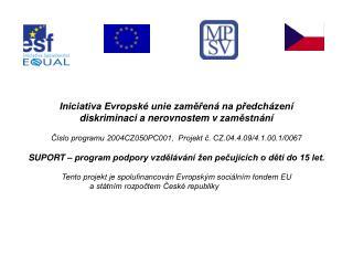 Iniciativa Evropské unie zaměřená na předcházení diskriminaci a nerovnostem vzaměstnání