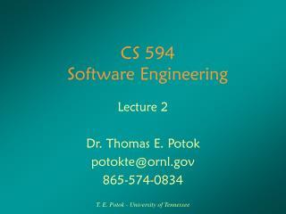 CS 594 Software Engineering