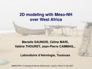 2D modeling with Méso-NH  over West Africa