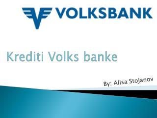 Krediti Volks banke