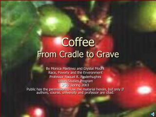 Coffee   From Cradle to Grave
