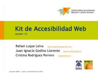 Kit de Accesibilidad Web versión 1.0