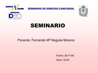 SEMINARIO DE DERECHO CONCURSAL