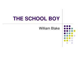 THE SCHOOL BOY