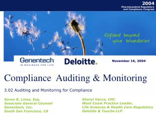 Compliance  Auditing & Monitoring
