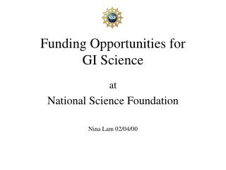 Funding Opportunities for GI Science