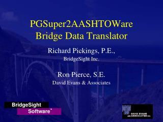 PGSuper2AASHTOWare Bridge Data Translator