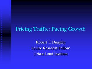 Pricing Traffic: Pacing Growth