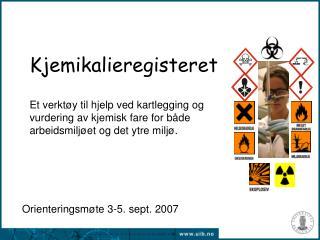 Orienteringsmøte 3-5. sept. 2007