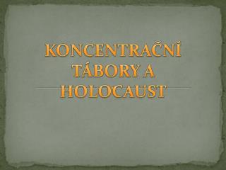 KONCENTRAČNÍ TÁBORY A HOLOCAUST