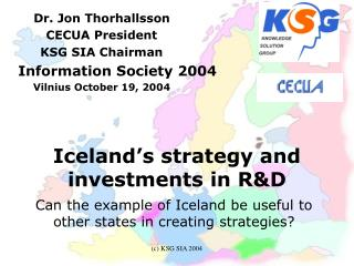 Iceland's strategy and investments in R&D