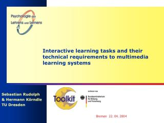 Interactive learning tasks and their technical requirements to multimedia learning systems