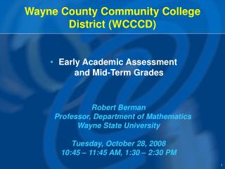 Wayne County Community College District (WCCCD)