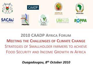 Ouagadougou, 8 th  October 2010