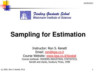Sampling for Estimation