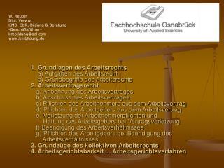 W. Reuter Dipl. Verww. KMB  GbR, Bildung & Beratung -Geschäftsführer- kmbildung@aol