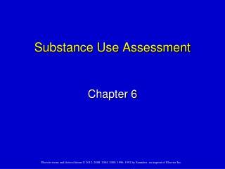 Substance Use Assessment