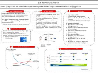 Set based processen