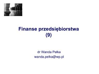 Finanse przedsiębiorstwa (9)