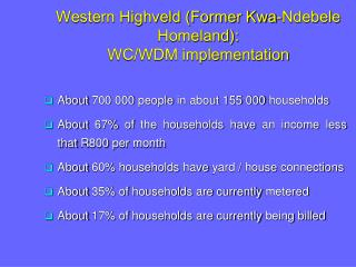 About 700 000 people in about 155 000 households
