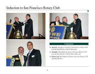 Induction to San Francisco Rotary Club