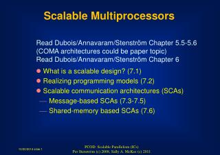 Scalable Multiprocessors