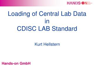 Loading of Central Lab Data in CDISC LAB Standard