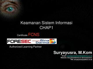 Keamanan Sistem Informasi CHAP1