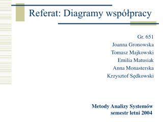 Referat: Diagramy współpracy