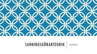 SANNINGSGÖRARTEORIN