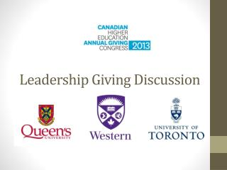 Leadership Giving Discussion