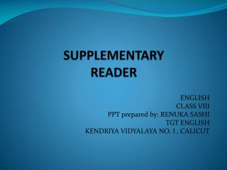 SUPPLEMENTARY  READER