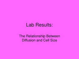 Lab Results: