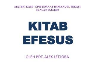 MATERI KAM  -  GPIB JEMAAT IMMANUEL BEKASI 16 AGUSTUS 2010