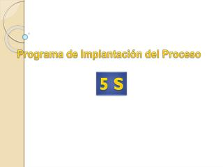 Programa de Implantación del  Proceso