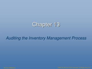 Auditing the Inventory Management Process