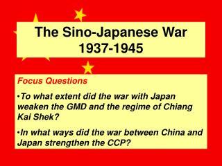 The Sino-Japanese War 1937-1945