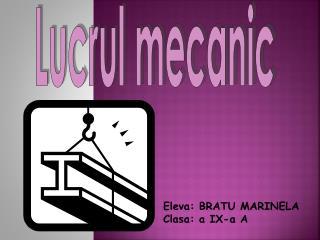 Lucrul mecanic