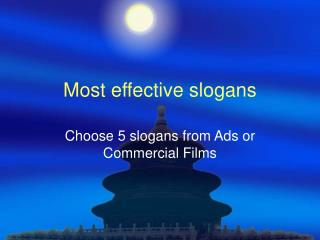 Most effective slogans