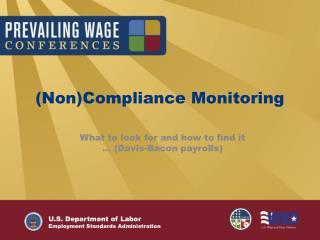 NonCompliance Monitoring