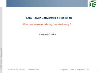 LHC Power Converters & Radiation
