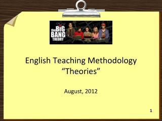 "English  Teaching  Methodology ""Theories"""