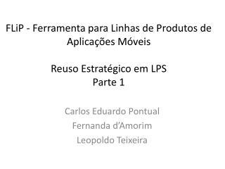Carlos Eduardo Pontual Fernanda d'Amorim Leopoldo Teixeira