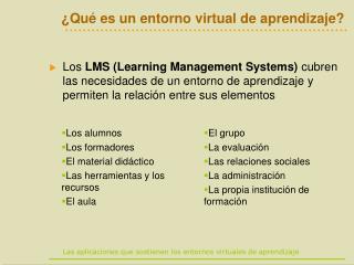 ¿Qué es un entorno virtual de aprendizaje?